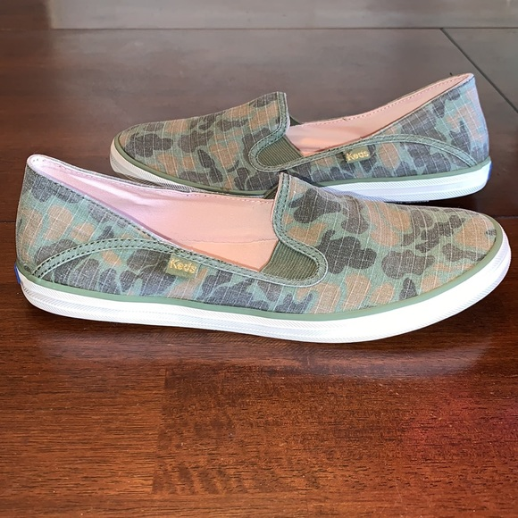 Keds Camo Canvas Slip on sneakers